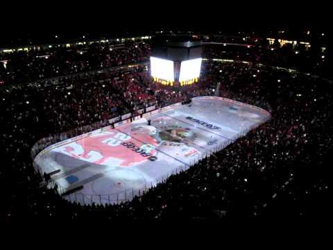 Chicago Blackhawks Banner Raising Ceremony - Part 1