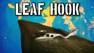 Forging a Leaf Hook (Hand Forged Hooks)