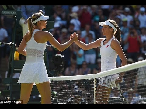 Maria Sharapova VS Johanna Konta Highlight 2015 R1