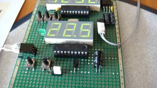 видео Самодельный электрический термометр