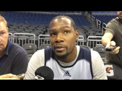 Durant: Shootaround in Orlando