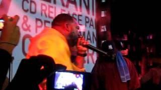 """Raekwon performing """"Cold Outside"""" at OB4CL2 album release party at SOBs"""