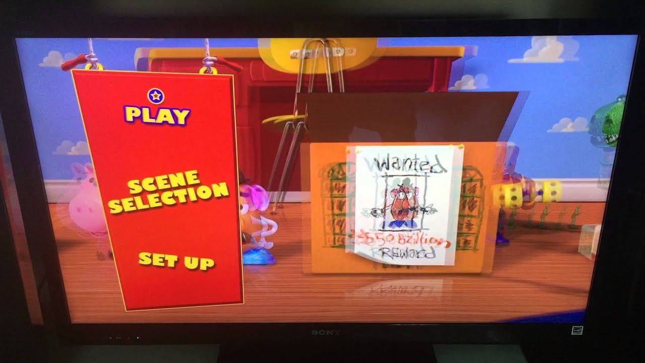 pixar 1b toy story blu ray 3d menu youtube. Black Bedroom Furniture Sets. Home Design Ideas