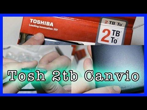 8048b9971c46 Toshiba Canvio Basics 2TB Portable External Hard Drive USB 3.0 Black  HDTB320EK3CA - Unboxing