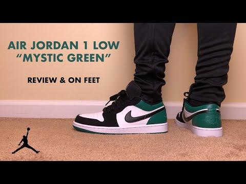 Air Jordan 1 Low Mystic Green Review