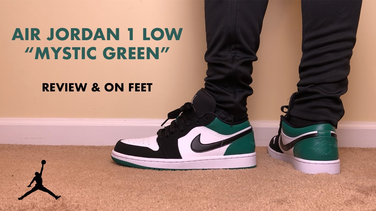 6ba3bc41a4 Air Jordan 1 Low Mystic Green Review and On Feet - YouTube