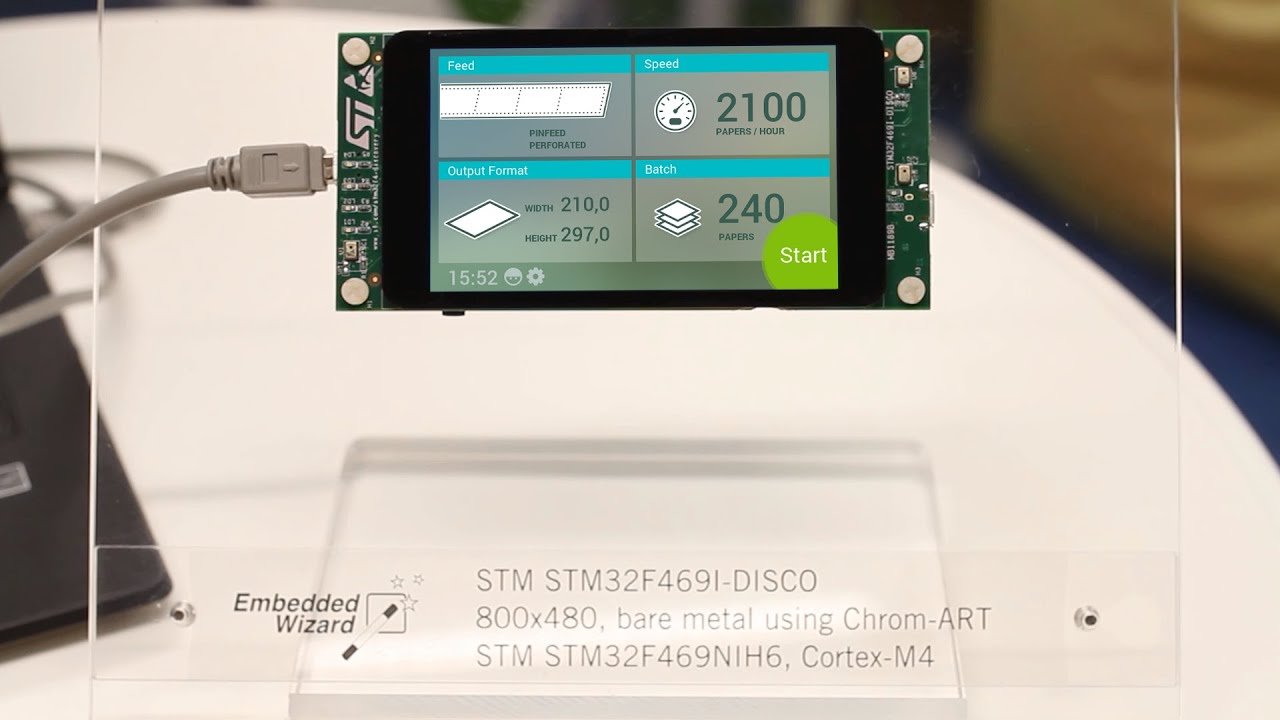 Smartphone-like GUIs on STM32F4 Discovery | Embedded Wizard