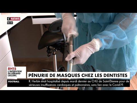 Pénurie de masques chez les dentistes
