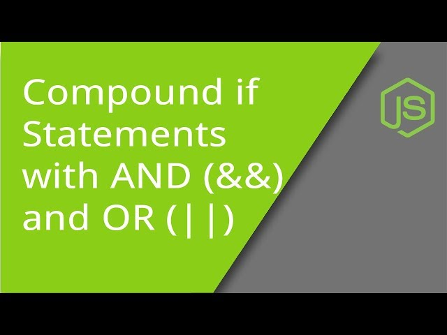 Logical Operators AND and OR with Compound if statements