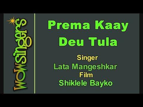 Prema Kaay Deu Tula - Marathi Karaoke - Wow Singers