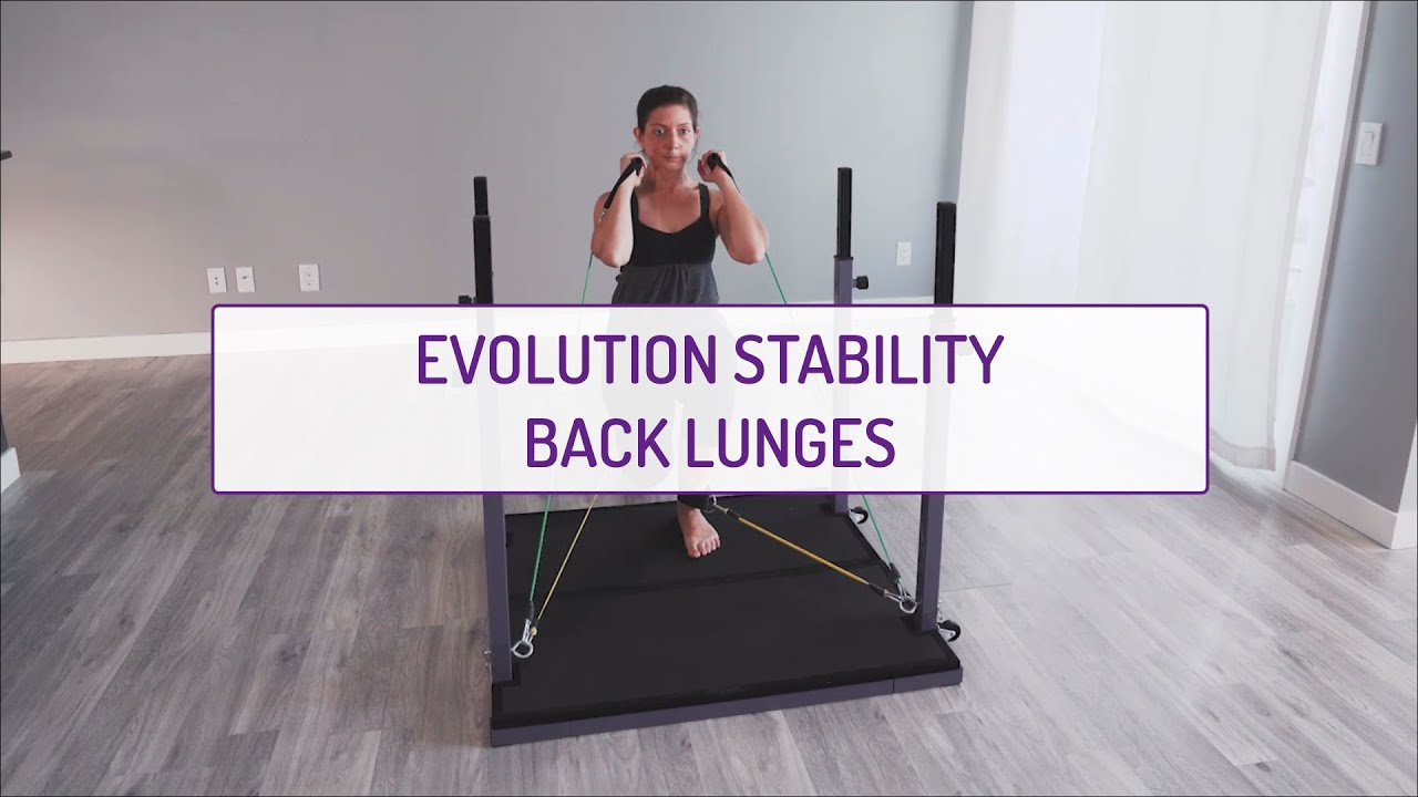 Home Exercises | Evolution Stability Back Lunges | Strength & Stability | Legs