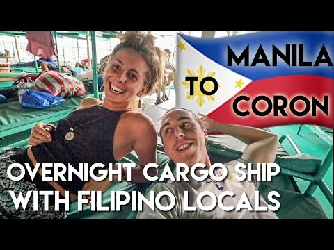 The ONLY Foreigners on a LOCAL Filipino Cargo ship - Philippines Travel Vlog Ep2 - Manila to Coron
