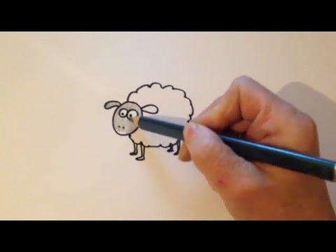 Как нарисовать барашка карандашом