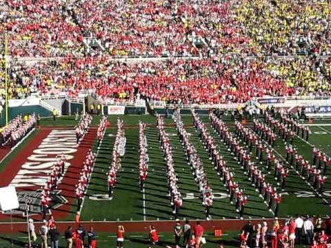 University of Wisconsin Badger Marching Band - Pregame and Run-on at 2012 Rose Bowl