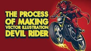 Timelapse Process Making Vector Il Ration Devil Rider