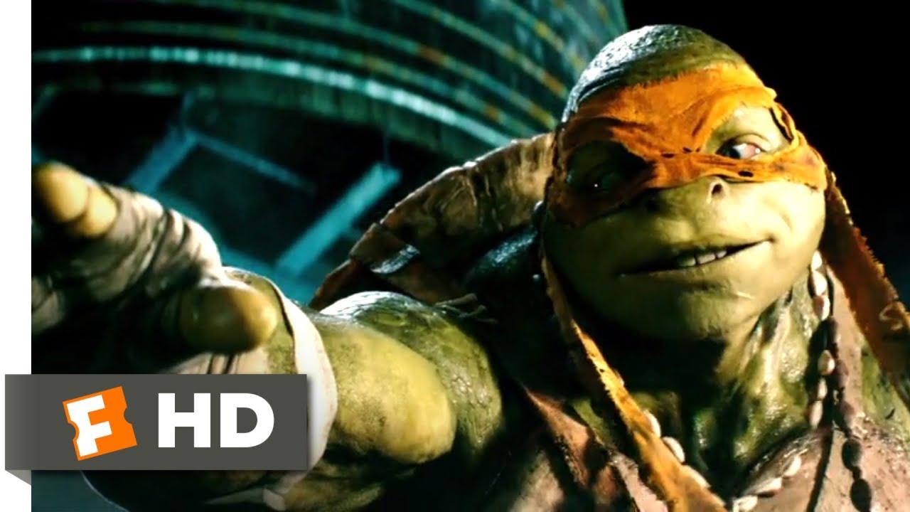 Teenage Mutant Ninja Turtles 2014 April Meets The Turtles Scene 2 10 Movieclips Youtube