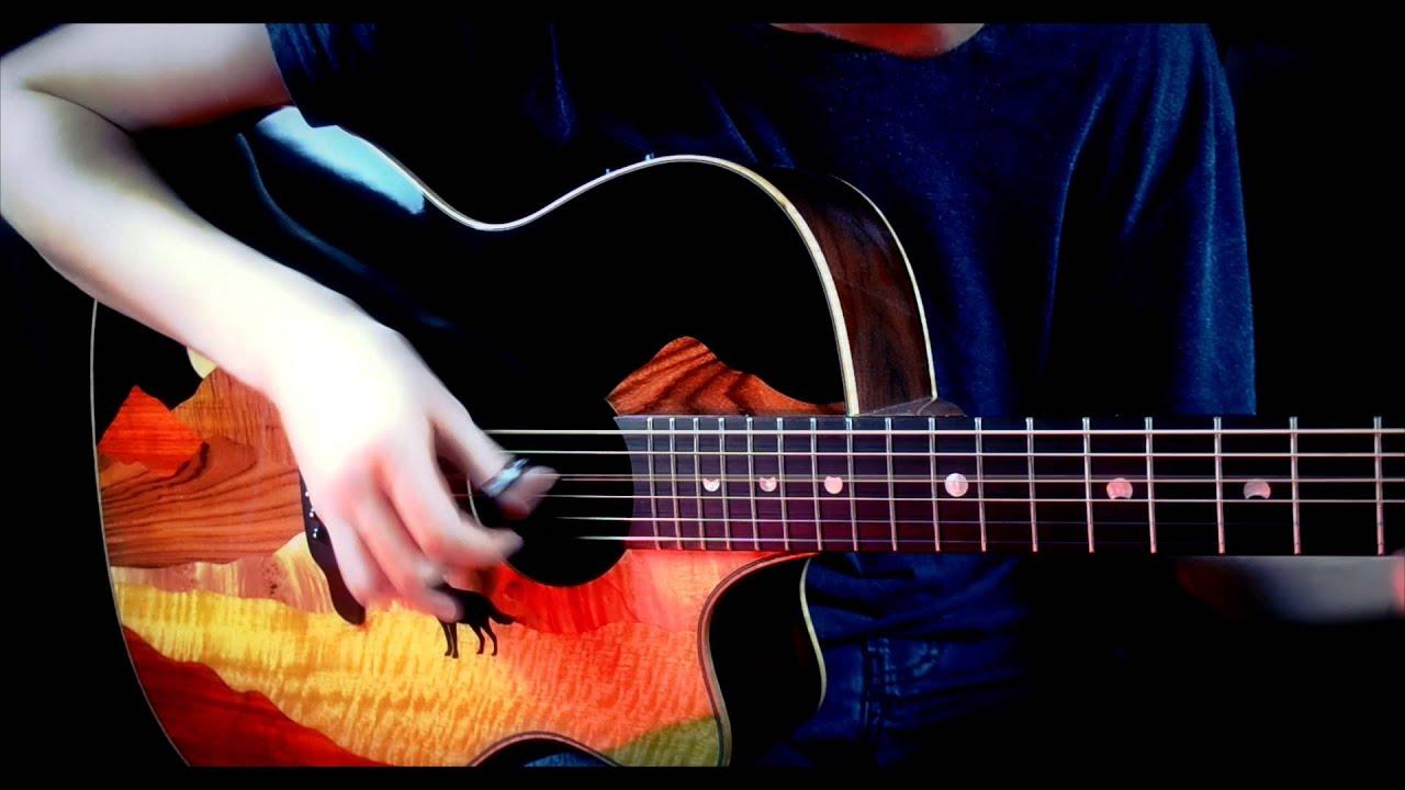how to play radioactive on guitar no capo