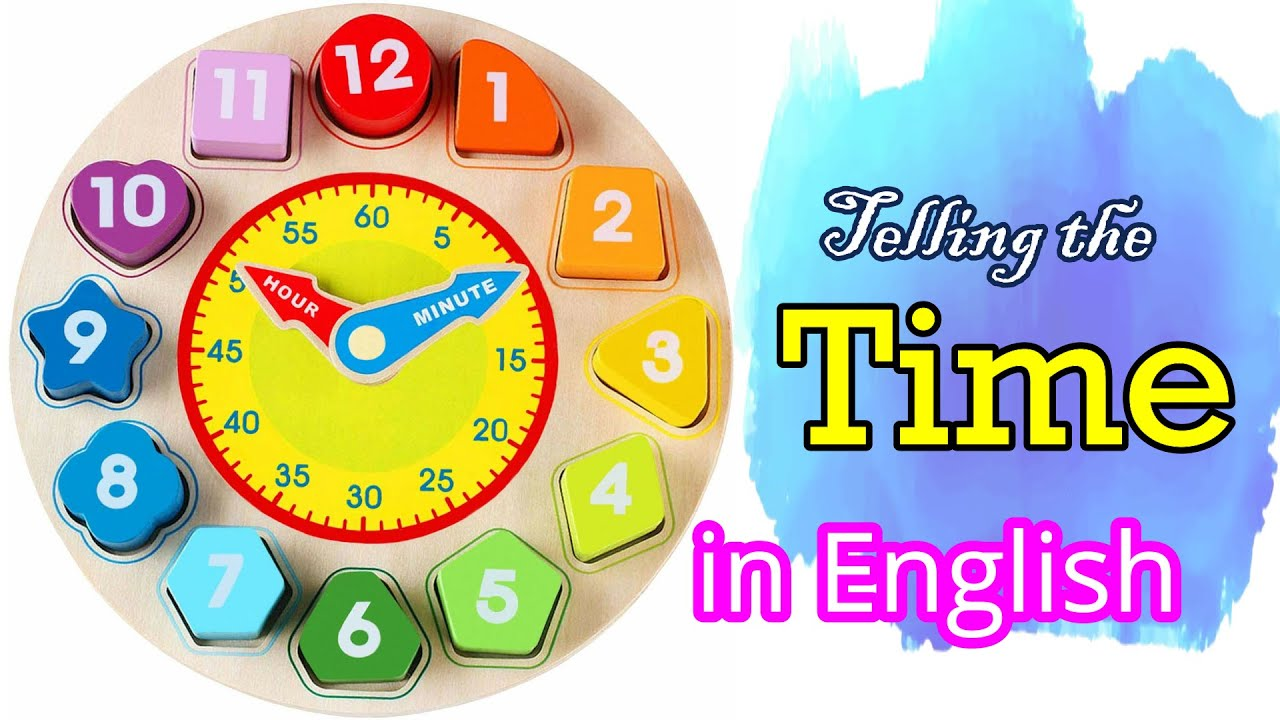 Learn How To Tell The Time In English   Telling The Time   Vocabulary