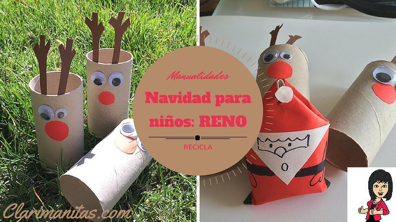 Reno tubo papel higi nico youtube - Adornos de navidad con papel ...