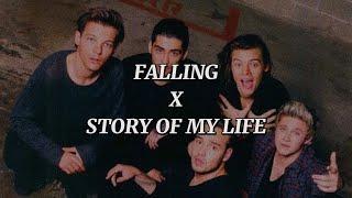 Harry Styles x One Direction - Falling x Story of My Life (Lyrics) Mashup
