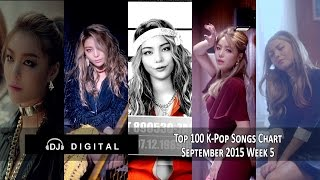 Top 100 K-Pop Songs Chart - September 2015 Week 5