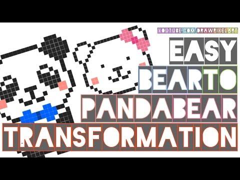 How To Draw Cute Bear Panda Bear Couple Easy