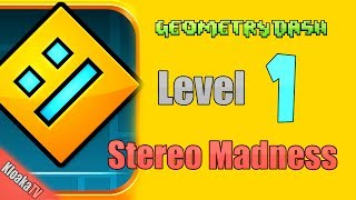 Geometry Dash - Level 1 - Stereo Madness Walkthrough