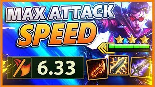 Download *BLADEMASTER + RANGER* HIGHEST ATTACK SPEED POSSIBLE IN TFT (6.33) -  BunnyFuFuu TFT Mp3 and Videos