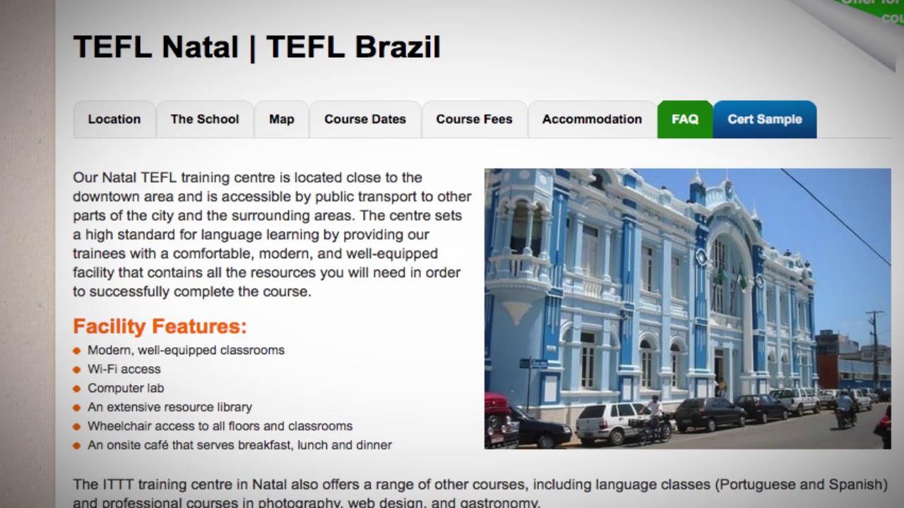 TEFL Natal | TEFL Brazil ▷ ITTT course