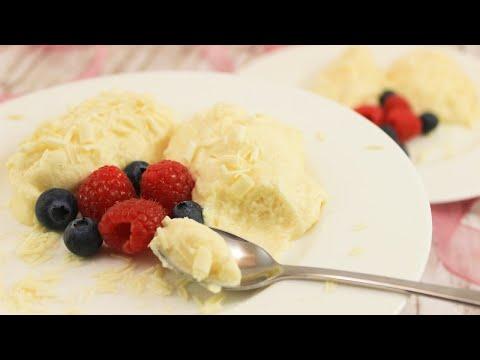 Mousse au Chocolat mit weißer Schokolade | Muttertags-Dessert | Vanille-Mousse