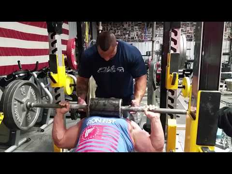 Shoulder saver bar press with IFBB Pro's Andrew Hudson and Ken Jackson