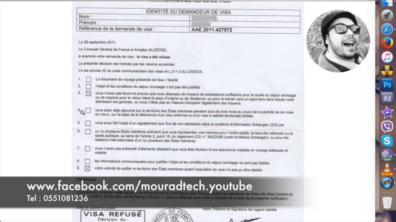 Visa France Italie Refuse Voila Pourquoi Youtube