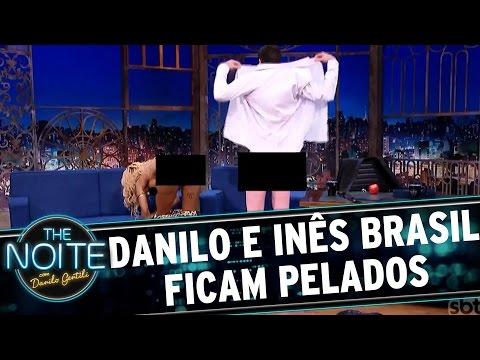 Danilo Gentili fica peladão com Inês Brasil | The Noite (15/03/17)
