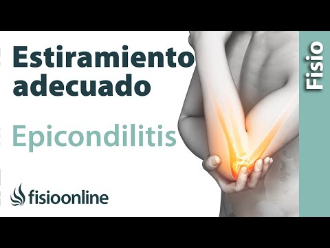 Cómo NO estirar en caso de epicondilitis o codo de tenista