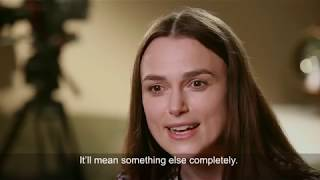 Keira knightly obe talks about being made by dyslexia.