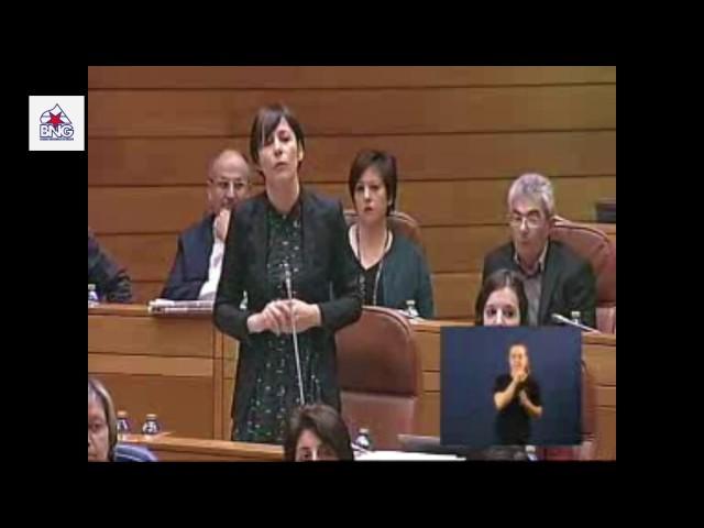 """Ana Pontón: """"Queremos un sistema de financiamento que garanta uns servizos públicos de calidade"""""""