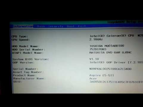 Entrar En La Bios Acer Aspire E5511 O E15