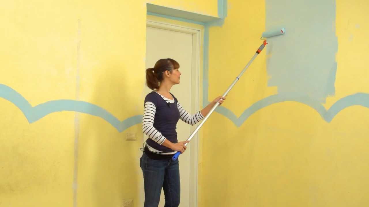 Personalizzare la cameretta dei bambini come un Giardino  Parte 1 Dipingere le pareti  YouTube