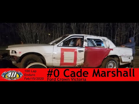 """411 Motor Speedway Enduro February 15th 2020 """"The Sweetheart"""" Cade Marshall #0 Ford Crown Victoria"""