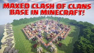 COMPLETE CLASH OF CLANS TH 11 BASE IN MINECRAFT