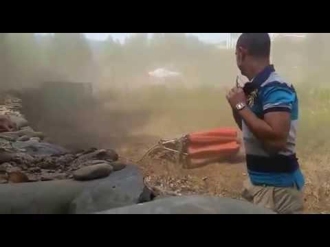 Helicóptero pierde el bambi en Pinofranqueado