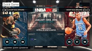 NBA 2K15 PC Gameplay All-Star Game West All-Stars vs East All-Stars (Xbox 360/PS4/PC)