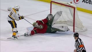 Dubnyk stacks pads on Ellis looking for short-handed goal