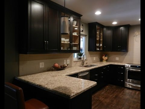 Espresso Kitchen Cabinets with Backsplash - YouTube