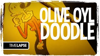 Speed Drawing: Olive Oyl (doodle)