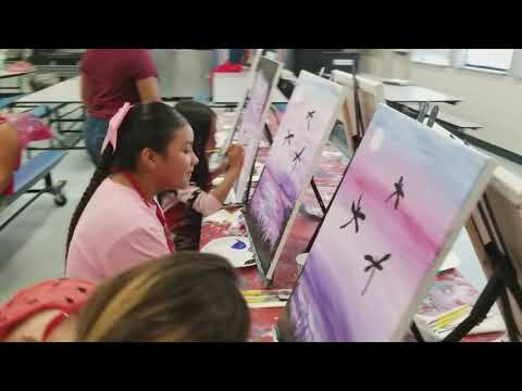 Navelencia Middle School painted the Purple Dragonflies