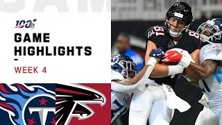 Titans vs. Falcons Week 4 Highlights | NFL 2019