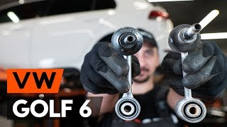 Kā nomainīt priekšējās stabilizatora atsaite VW GOLF 6 (5K1) [PAMĀCĪBA AUTODOC]