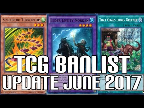 Yugioh TCG Banlist Update June 12th - Norden Banned! Terrortop & Grass Limited!!!