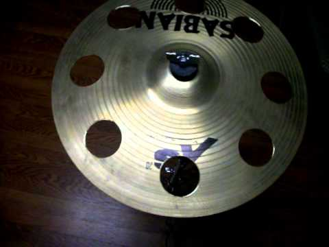 sabian xs20 medium thin 14 crash cymbal sound test after ozone holes added youtube. Black Bedroom Furniture Sets. Home Design Ideas